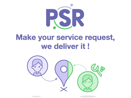Public Service Request is a simple tool to request things of, or report things to, Service Providers, even if you don't know which service provider is responsible.